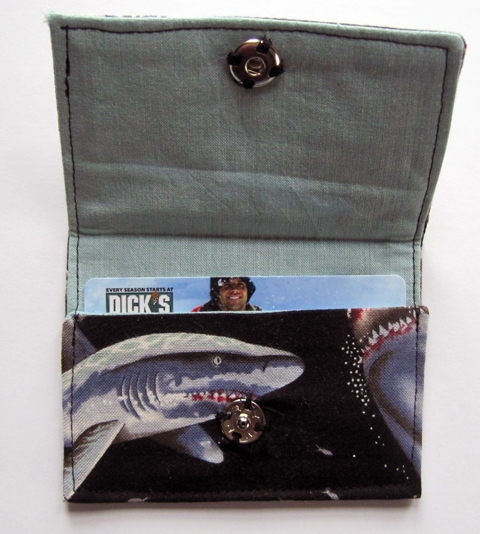 Shark giftcard holder