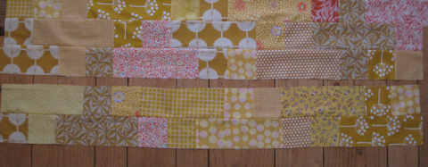 Plus Quilt strips sewn wrong